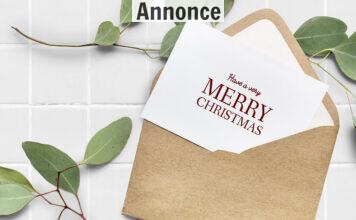 kuvert med julekort